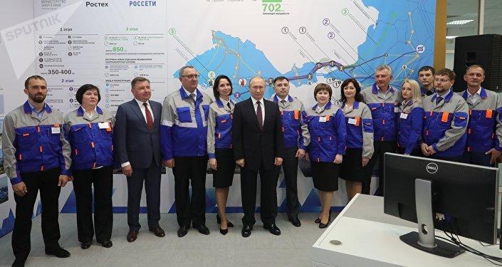 La inauguración de las centrales térmicas crimeas de Balaklava y Táuride