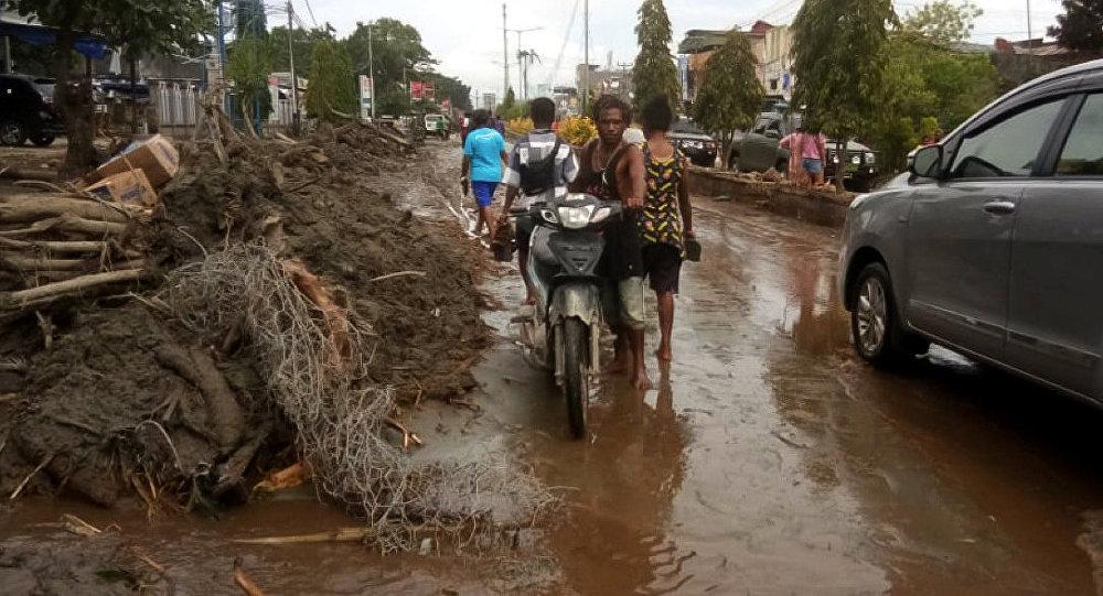 Inundaciones en Papúa, Indonesia