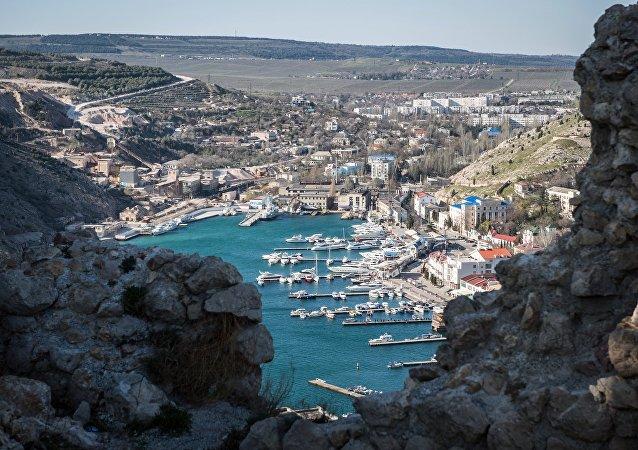 La bahía de Balaklava, Crimea