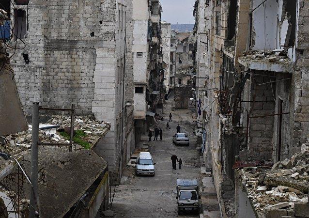Una de las calles de Alepo (imagen referencial)