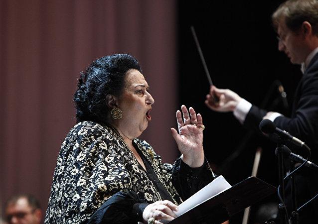 Montserrat Caballé, cantante de ópera española (archivo)