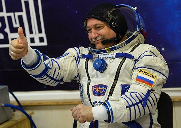 Fiódor Yurchijin, cosmonauta ruso (archivo)