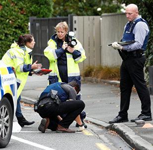El lugar del ataque a las mezquitas en Christchurch, Nueva Zelanda