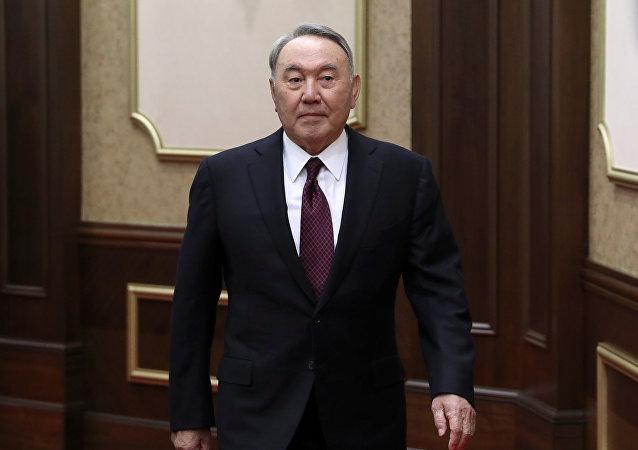 Nursultán Nazarbáev, expresidente de Kazajistán (archivo)