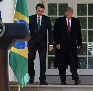 Presidente de Brasil, Jair Bolsonaro, y presidente de EEUU, Donald Trump (archivo)