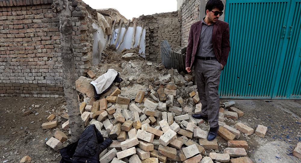 Lugar de una de las explosiones en Kabul