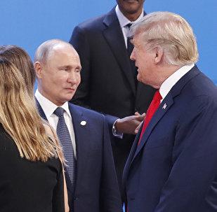Los presidentes de Rusia, Vladímir Putin y EEUU, Donald Trump (archivo)