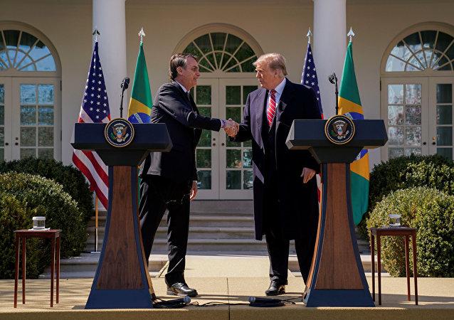 Presidente de Brasil, Jair Bolsonaro, y presidente de EEUU, Donald Trump