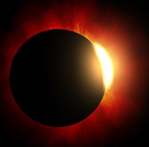 Sol detrás de un planeta