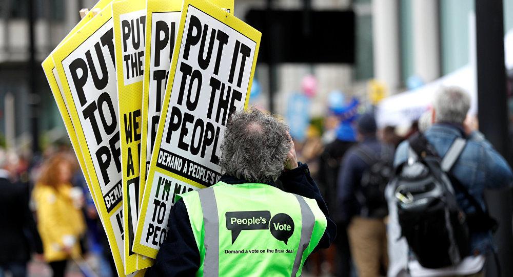 Preparaciones para manifestaciones en Londres