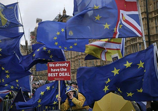 Protesta contra el Brexit