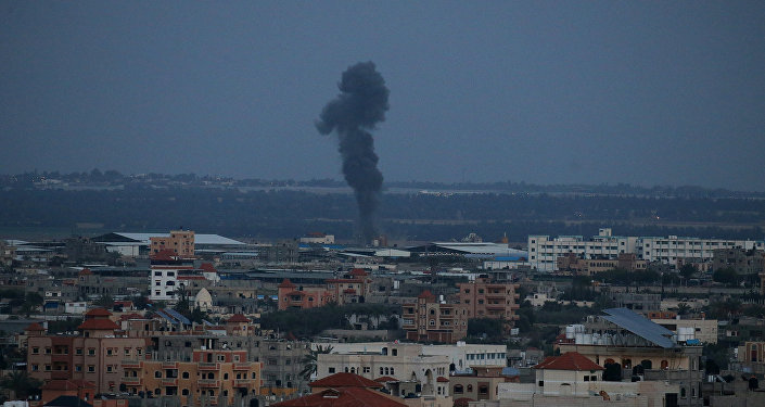 El humo tras el ataque de Israel en la Franja de Gaza