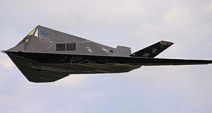 Un bombardero F-117
