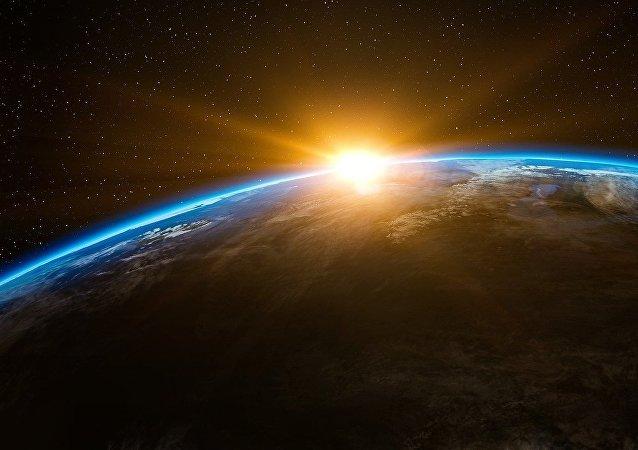 El amanecer desde el espacio