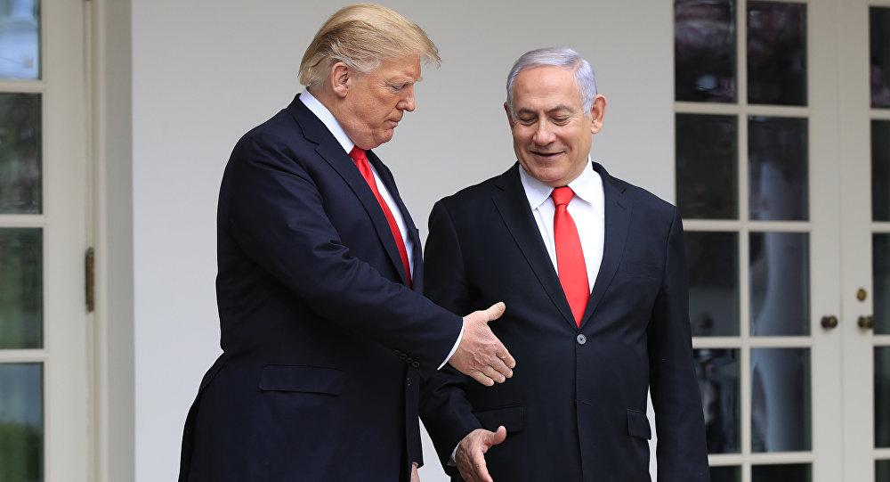 El presidente estadounidense, Donald Trump, y el primer ministro israelí, Benjamín Netanyahu