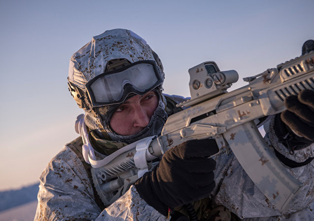 Un militar en el Ártico (archivo)