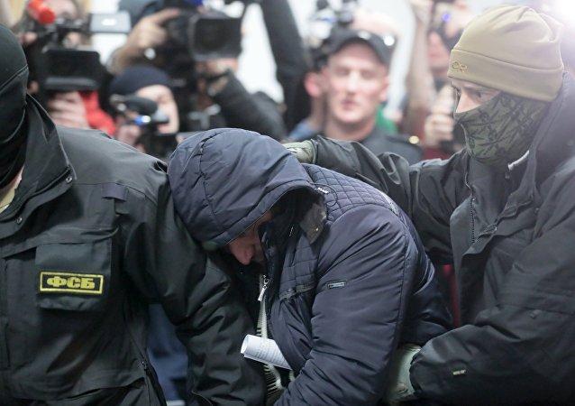 La detención de un miembro de la célula terrorista en el doble ataque de 2010 al metro de Moscú, Rusia