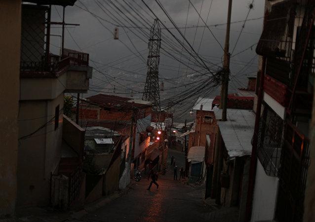Apagón en Caracas, Venezuela (archivo)