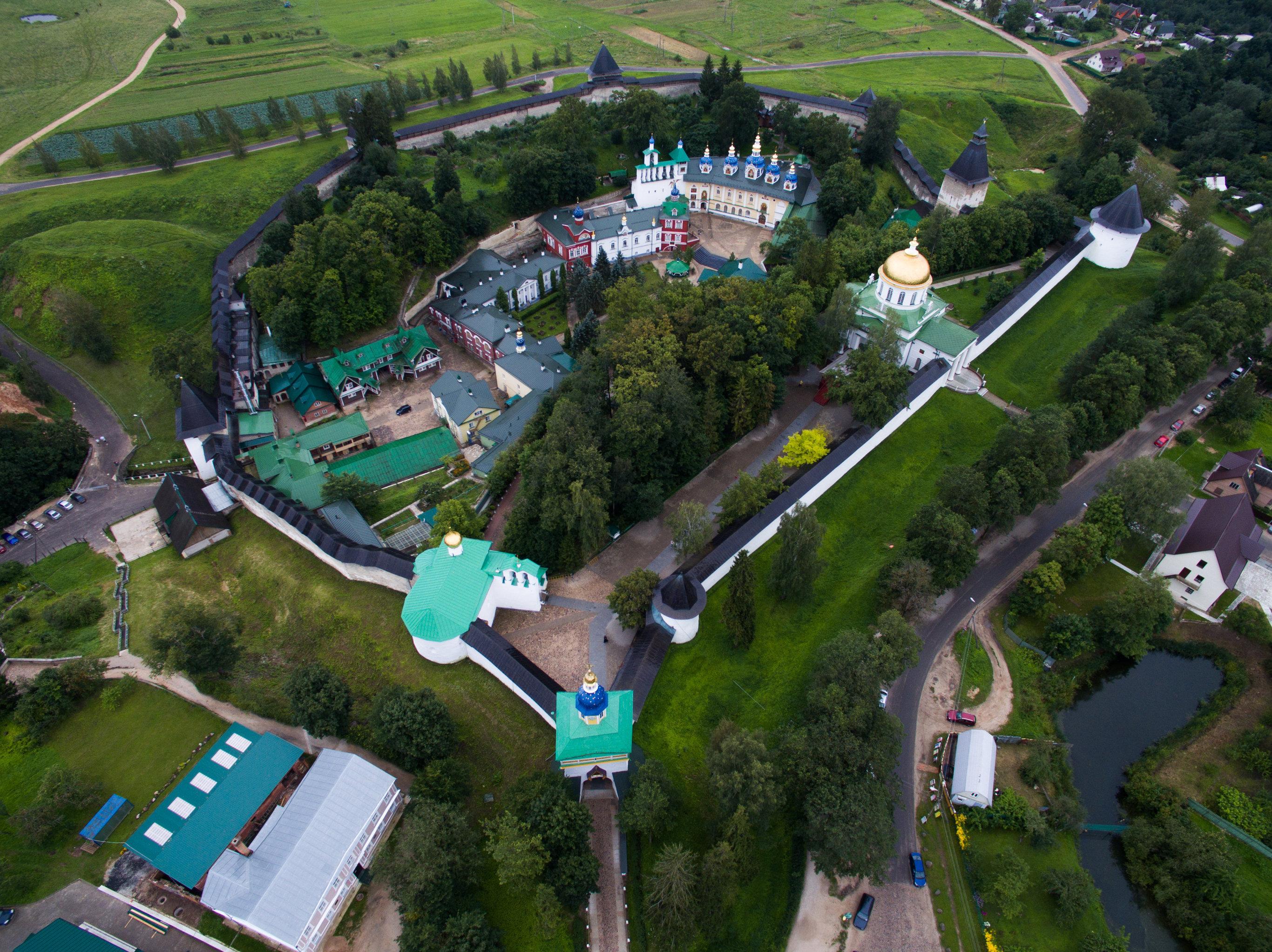 La vista de la ciudad de Pskov, Rusia