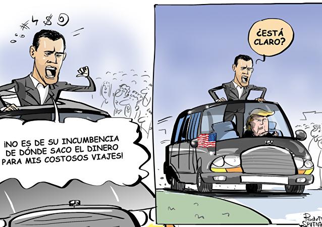 Guaidó y el posible patrocinador de sus viajes