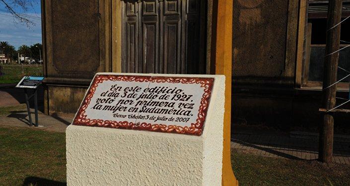 Casa donde votó por primera vez la mujer en Sudamérica en la localidad uruguaya de Cerro Chato