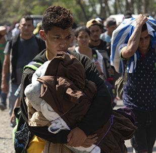 Caravana de migrantes centroamericanos (archivo)