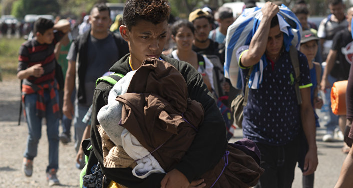 Caravana de migrantes centroamericanos en México (archivo)