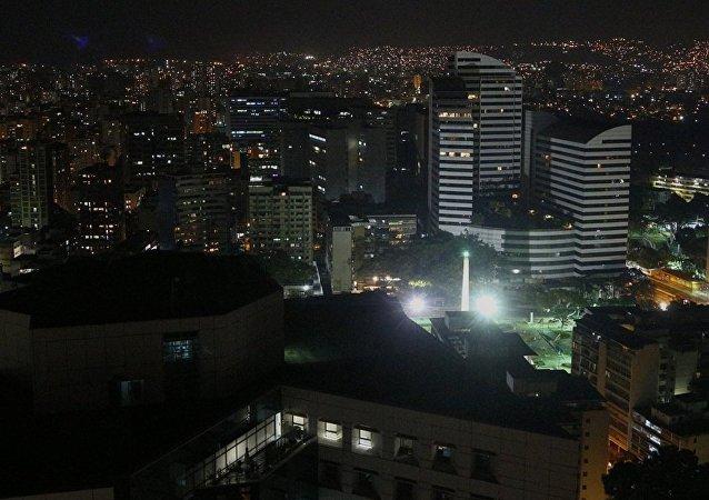 Caracas durante el apagón