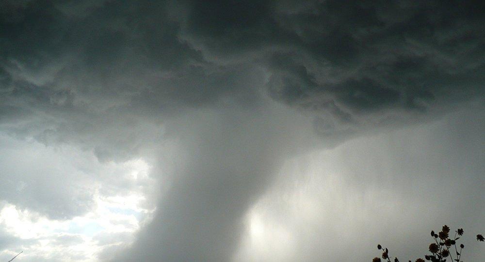 Un tornado, imagen referencial