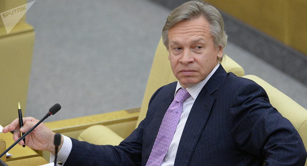 Alexéi Pushkov, presidente de la comisión interna de Política Informativa del Consejo de la Federación de Rusia