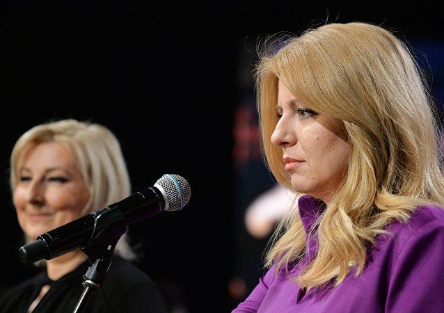 Zuzana Caputová en la segunda vuelta de las elecciones de Eslovaquia
