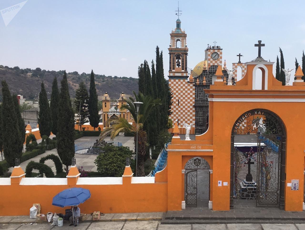Vista de Santiago Xalitzintla, el pueblo más cercano al volcán