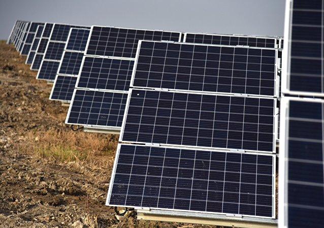 Una planta solar