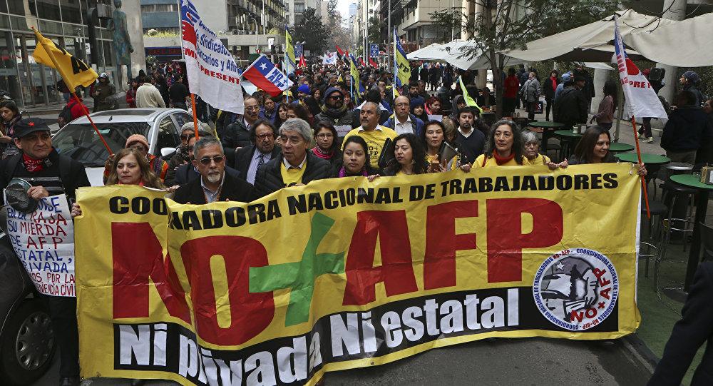 Las protestas por jubilación en Chile (archivo)