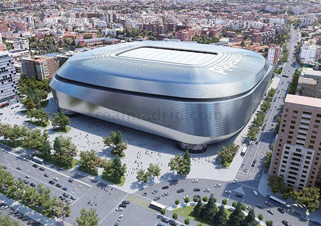 El modelo digital del nuevo estadio Bernabéu