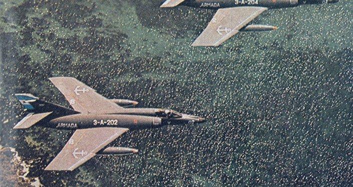 Aviones Super Étendard de la Fuerza Aérea Argentina en 1982