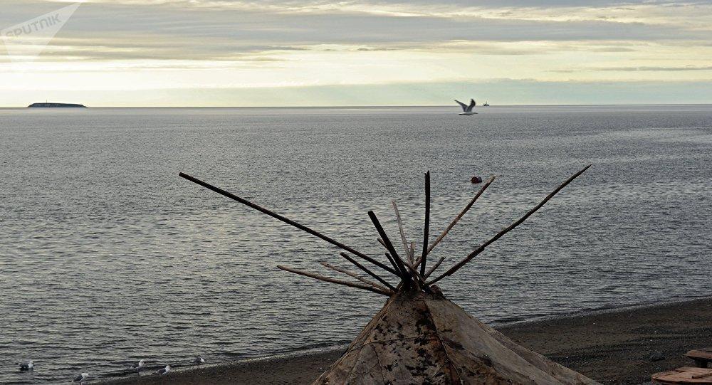 Típico hogar de los indígenas del Ártico ruso