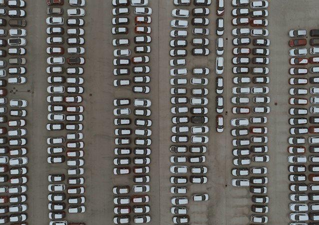 Un aparcamento