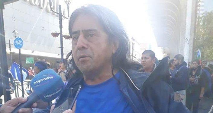 Aucán Huilcamán, líder de la organización chilena mapuche Consejo de Todas las Tierras