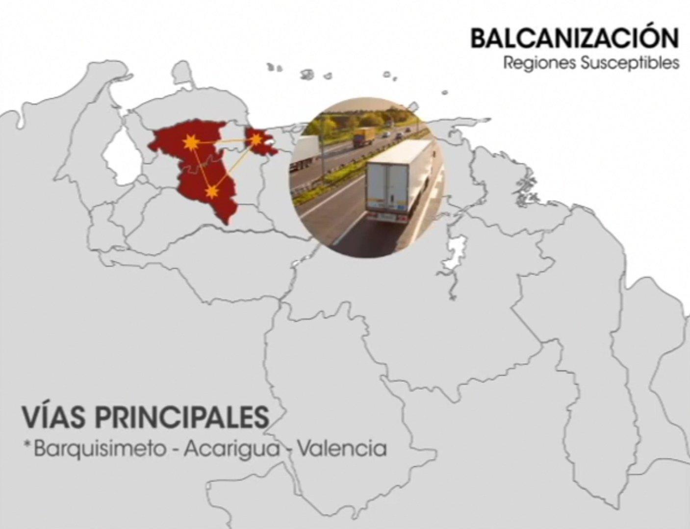 Las regiones suceptibles de la balcanización en el mapa