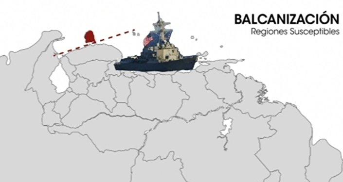 Paraguaná, regiones suceptibles de la balcanización en el mapa