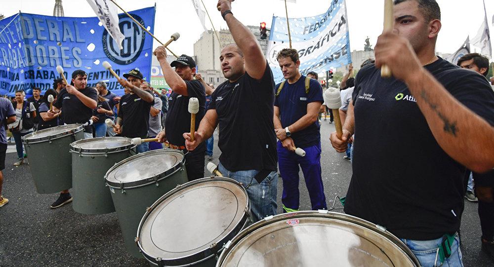 Protestas en Buenos Aires contra el Gobierno argentino