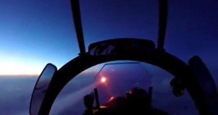 Vista de un piloto del Su-30SM