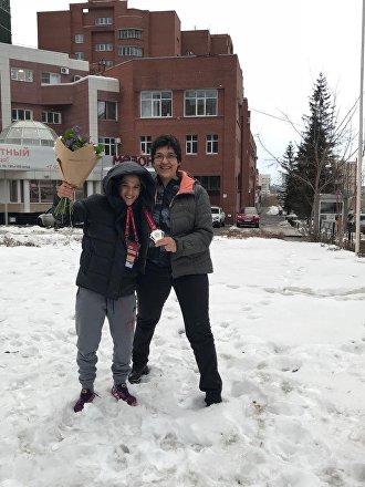 Laura Martinel y Paula Pareto en la nieve de Ekaterimburgo