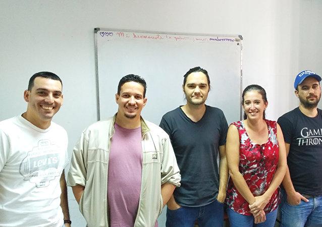 Equipo de Lombao Estudios, un emprendimiento cubano