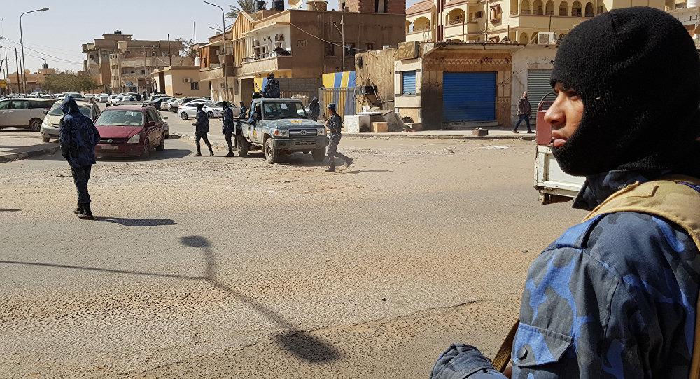 Combatientes del Ejército Nacional Libio