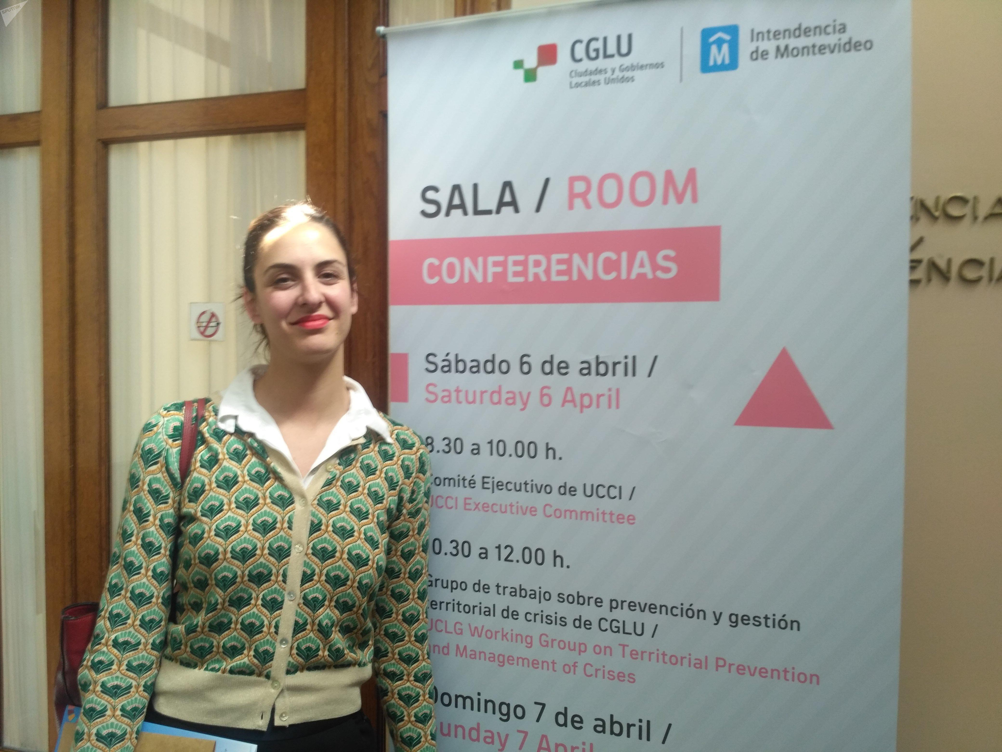 Rita Maestre, secretaria general de la Unión de Ciudades Capitales Iberoamericanas y concejala del Ayuntamiento de Madrid