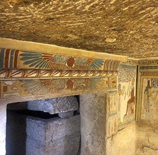 Los dibujos en las paredes de una antigua tumba en Egipto (imagen referencial)
