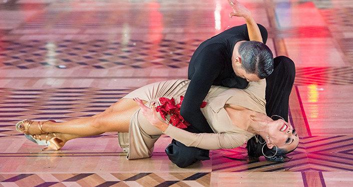 Emanuele Soldi y Elisa Nasato, bailarines italianos