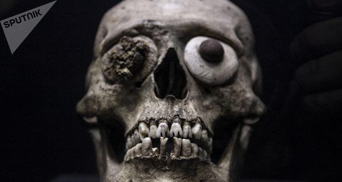 Una de las 15.000 piezas exhibidas en el Museo del Templo Mayor